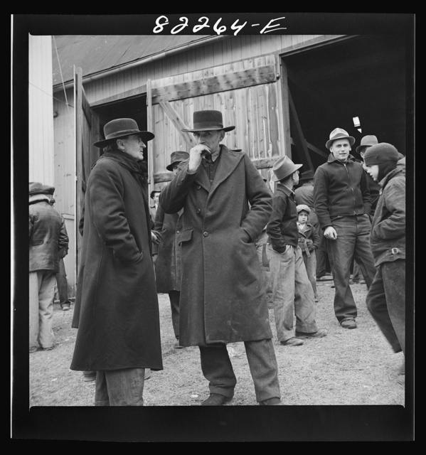 Lancaster County, Pennsylvania. Mennonite farmers at auction