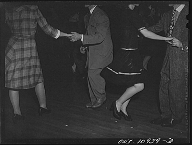 Lancaster, Pennsylvania. Company dance given in Moose Hall by employees of the Hamilton Watch Company so that new employees could get acquainted. Zoot suits and jitterbugs