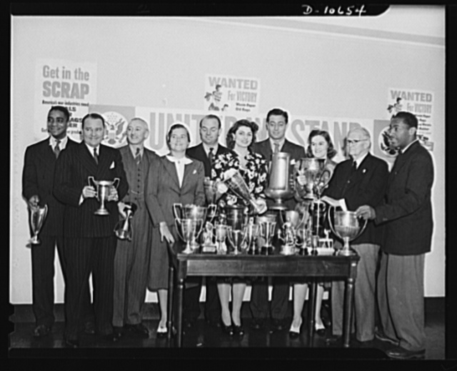 Left to right: James Herbert, (colored) runner; Vincent Richards, tennis; Arthur MacPherson, national veterans tennis champion; Mrs. Harry McNaughton, golfer; Jess Sweetser, golfer; Gloria Callen, swimmer; Frank Shields, tennis; Maureen Orcutt, golfer; George J. Elder, yachtsman; Wallace Merrihew (old guy), editor American Lawn Tennis journal; and John Borican, (colored) runner