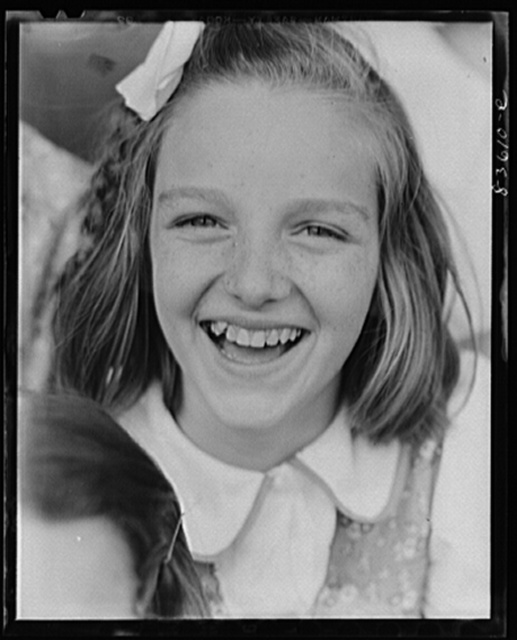 Lille, Maine. Acadian child attending Catholic school