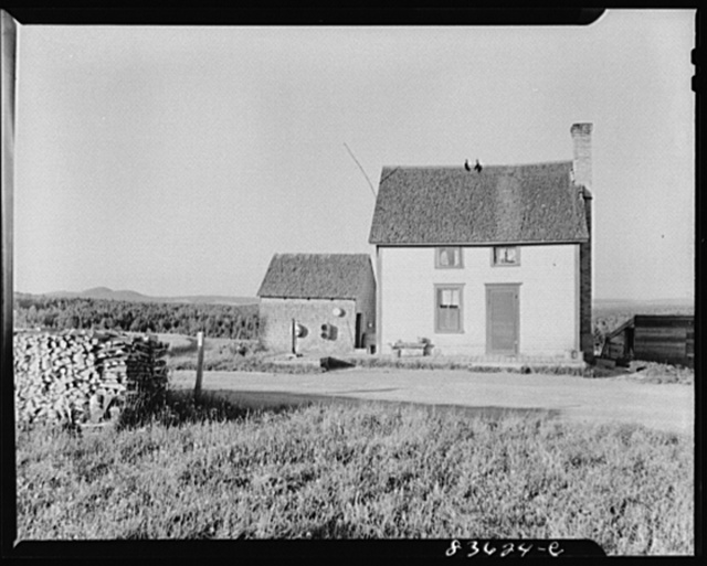 Lille, Maine (vicinity). Acadian farmhouse. The house has two rooms, one upstairs and one downstairs