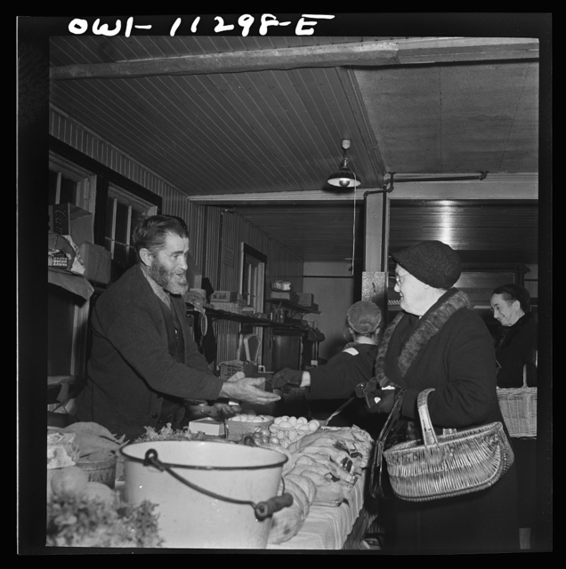 Lititz, Pennsylvania. Mennonites at the farmers' market