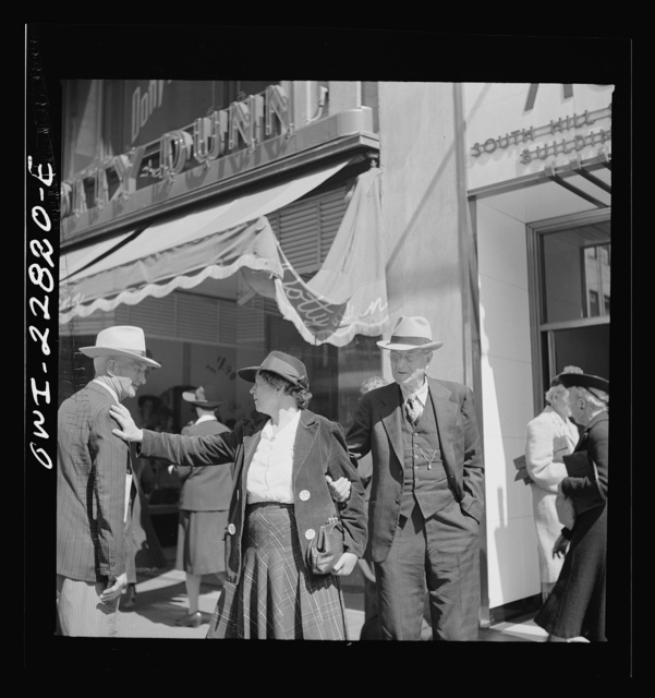 Los Angeles, California. People on a downtown street