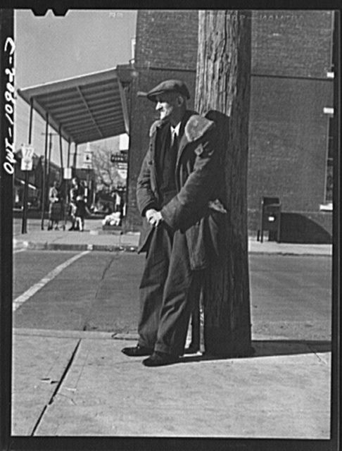 Manheim, Lancaster County, Pennsylvania. Farmer in town to shop