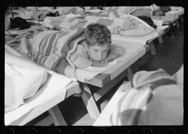 Midday nap, nursery school, FSA (Farm Security Administration) camp, Harlingen, Texas
