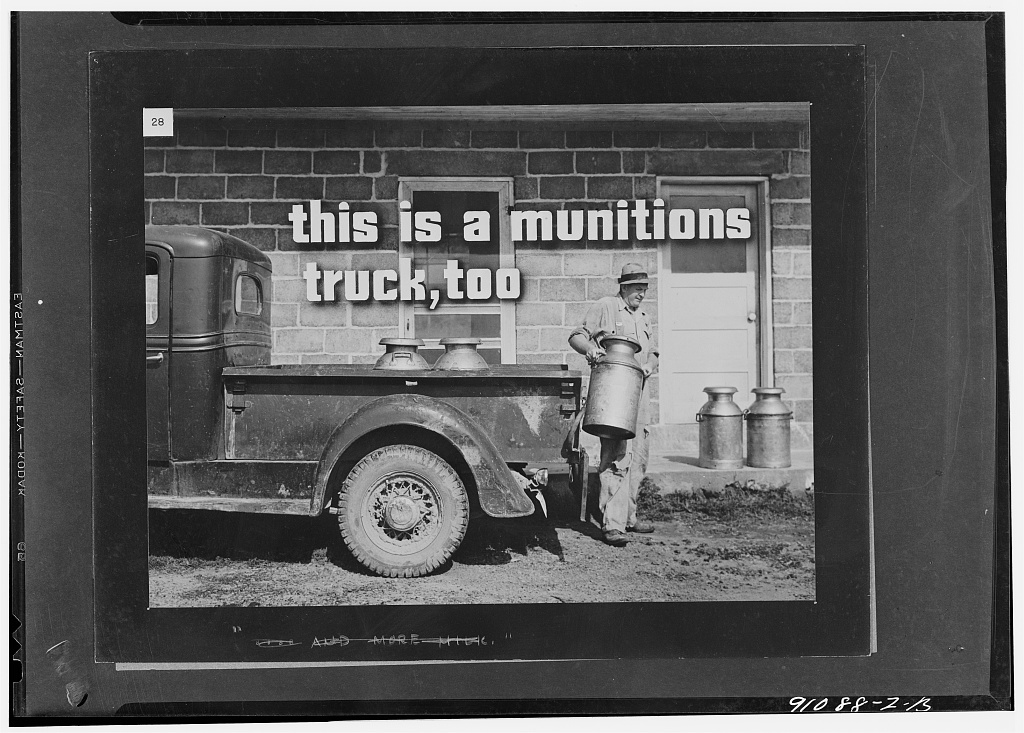 More milk for victory, a filmstrip prepared by the FSA (Farm Security Administration) in September, 1942. Frame number twenty-eight