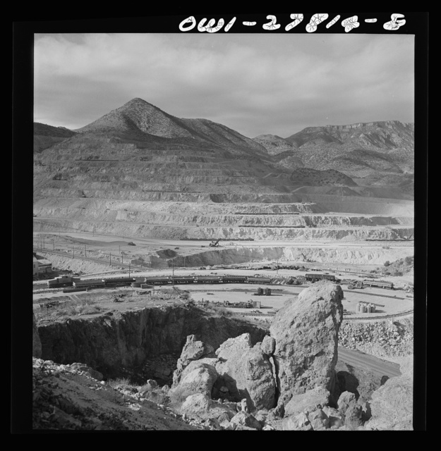 Morenci, Arizona. An open-pit copper mine of the Phelps Dodge mining corporation