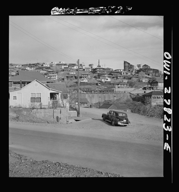 Morenci, Arizona. Old mine buildings and houses of the workers of the Phelps Dodge mining corporation are being demolished