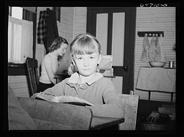 Morton County, North Dakota. Schoolgirl