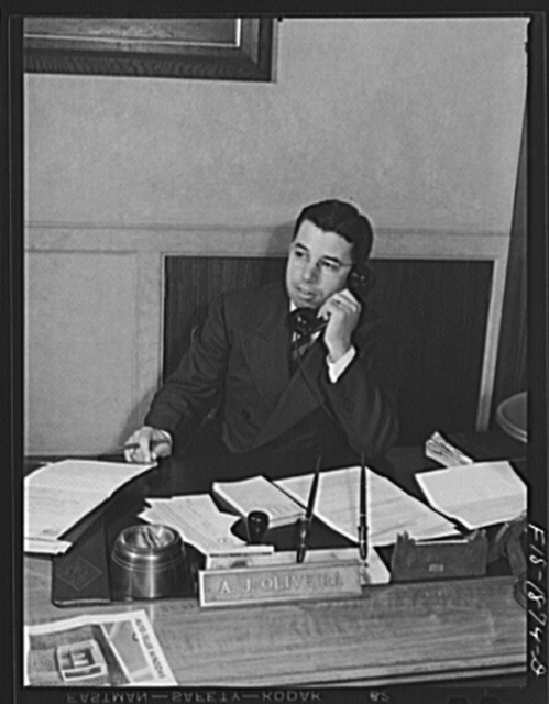 Mr. A.J. Oliveira, of Portuguese descent, who is cashier of the First National Bank in San Leandro, California