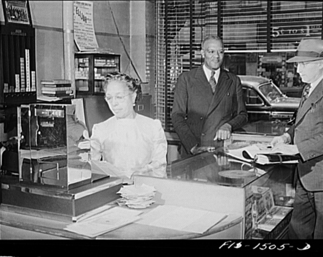 Mr. and Mrs. Ernest Morris, owners and proprietors of the Perfect Eat Shop, a restaurant on 47th Street near South Park, Chicago, Illinois