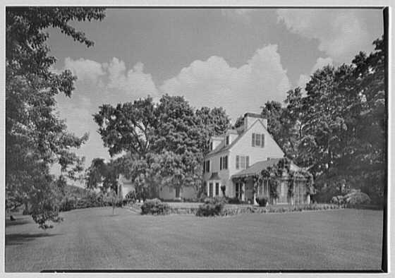 Mrs. Charles R. Moeser, Furlough Farm, residence in Bedford Hills, New York. Rear facade I