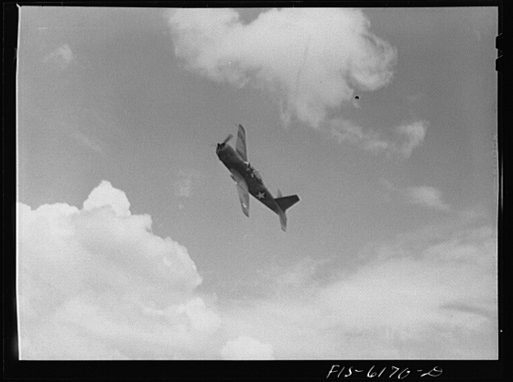 Nashville, Tennessee. A bomber during a special demonstration for the press. Vultee Aircraft Corporation plant