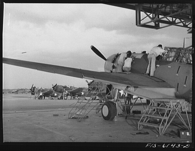 Nashville, Tennessee. Final assembly of the bombing planes. Vultee Aircraft