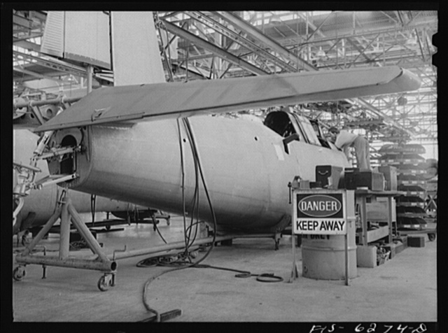 Nashville, Tennessee. Fuselage assembly at the Vultee Aircraft Corporation plant