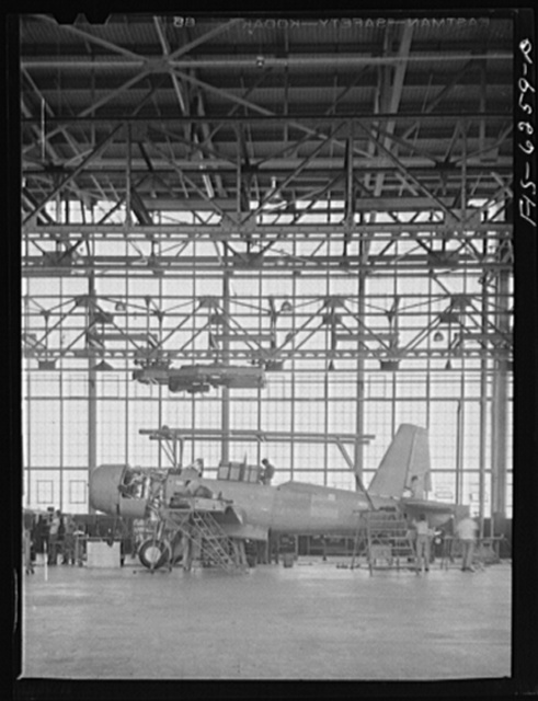 Nashville Tennessee. In the final assembly section. Vultee Aircraft Corporation plant