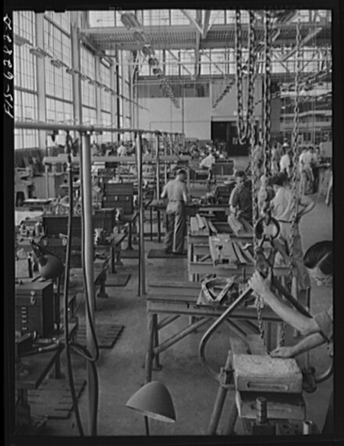 Nashville, Tennessee. In the machine shop section. Vultee Aircraft Corporation plant