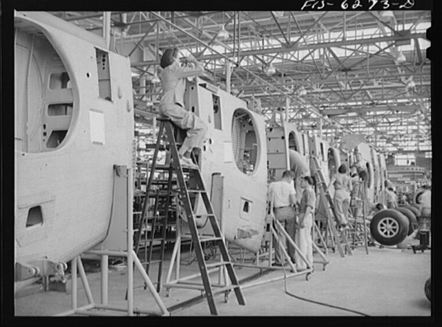 Nashville, Tennessee. In the wing sub-assembly section. Vultee Aircraft Corporation plant