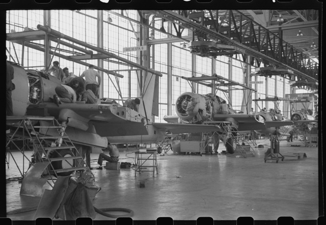 Nashville, Tennessee. Vultee Aircraft Company. Final assembly of the Vengeance (V72) bomber