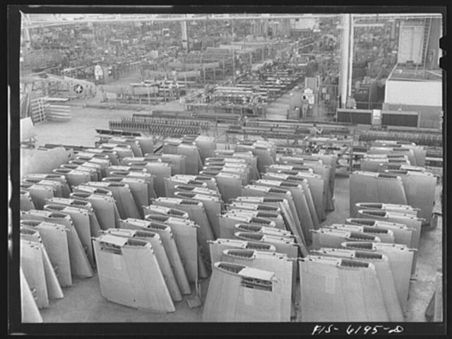 Nashville, Tennessee. Wing section awaiting installation. Vultee Aircraft Corporation plant