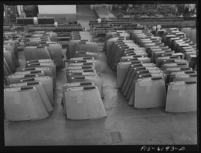 Nashville, Tennessee. Wing sections awaiting installation. Vultee Aircraft Corporation plant