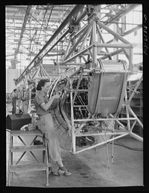 Nashville, Tennessee. Working on motor installation at the Vultee Plant