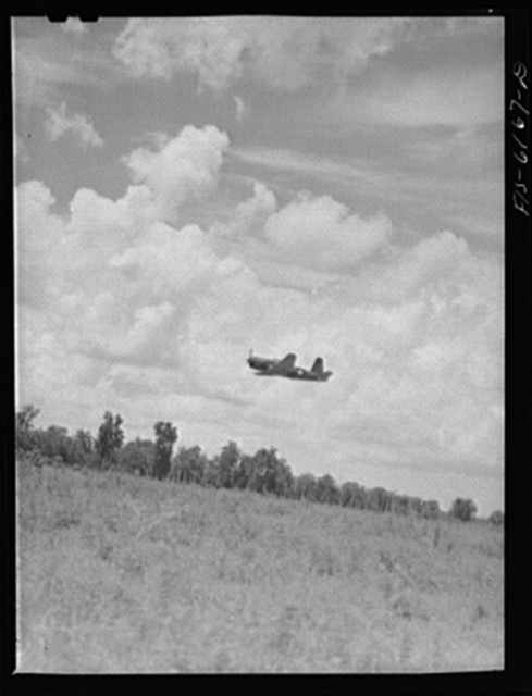 Nasville, Tennessee. A bomber during a special demonstration of the press. Vultee Aircraft Corporation plant