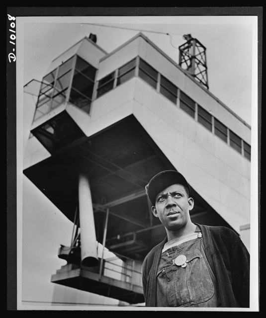 Negroes speed war work for Tennessee Valley Authority. Earl Tulloss is a skilled operator of a dragline capable of moving a fifth of a carload of coal at once. He is president of the Hod Carriers' local union at Watts Bar Steam Plant of TVA, and is active in labor-management campaigns for sale of war bonds, and reduction of absenteeism