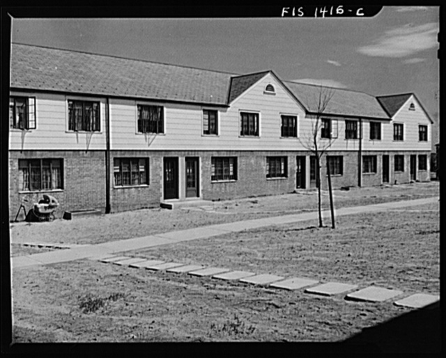 New Bedford, Massachusetts. Federal housing project for low income group