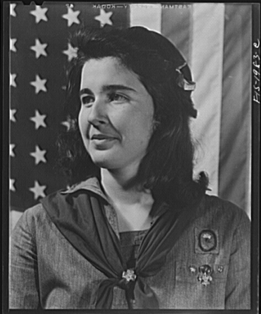 New Bedford, Massachusetts. Portuguese Girl Scout