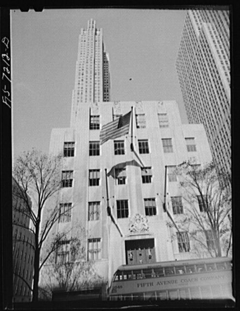 New York, New York. British Empire Building, Rockefeller Center