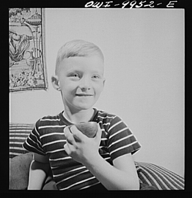 New York, New York. Children's Colony, a school for refugee children administered by a Viennese. German refugee boy