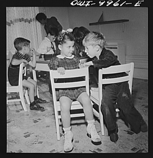 New York, New York. Children's Colony, a school for refugee children administered by a Viennese. Five-year-old class
