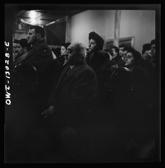 New York, New York. Midnight mass on Christmas Eve at Saint Dominick's church in an Italian-American neighborhood