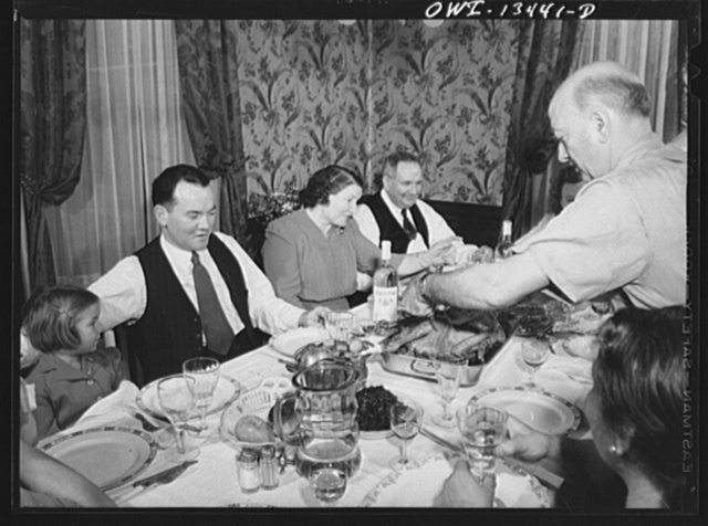 New York, New York. Sunday dinner in the Martinetti home. He is a restaurant owner who lives in the Bronx. He is one of three partners in the restaurant, it is on lower Fifth Avenue, which caters to businessmen