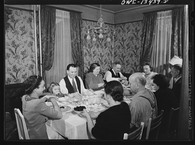 New York, New York. Sunday dinner in the Martinetti home. He is a restaurant owner who lives in the Bronx. He is one of three partners in a restaurant, it is on lower Fifth Avenue, which caters to businessmen