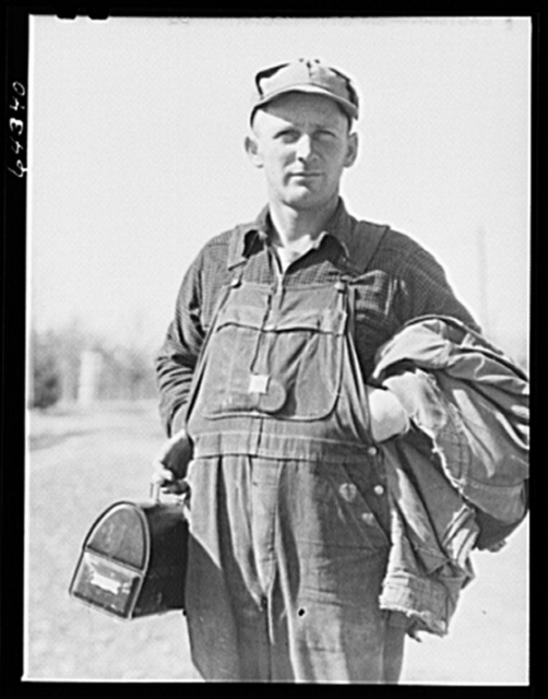 Newton County, Missouri. Camp Crowder area. A former farm worker, now a construction worker