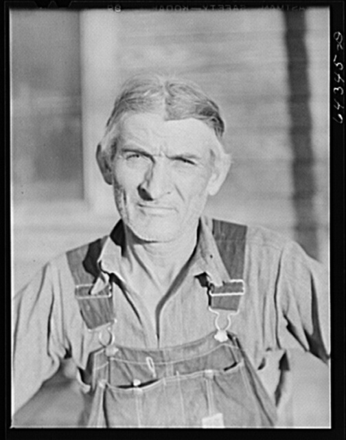 Newton County, Missouri. Camp Crowder area. James Mallory, Ozark farmer whose land has been bought by the Army for construction. With the aid of the FSA (Farm Security Administration) he will move to a farm in Bates County, one hundred miles north in the cornbelt