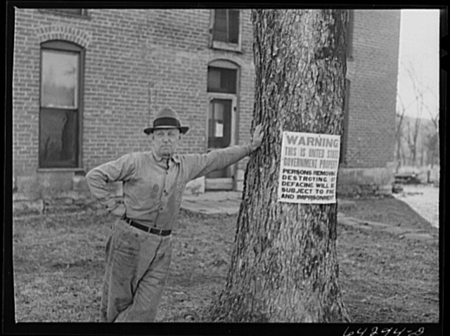 Newton County, Missouri. Camp Crowder area. Mr. Casement, farmer in the area bought by the Army for construction. He has bought a farm nearby