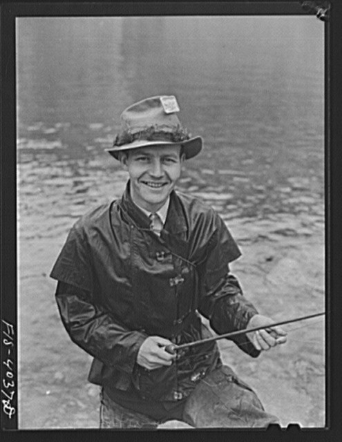 Norris Dam, Tennessee (Tennessee Valley Authority (TVA)). Fishing at the base of Norris Dam