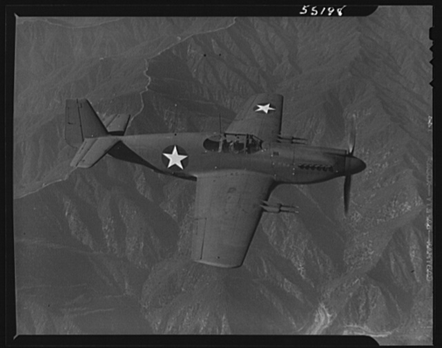"""North American P-51 Mustang Fighter, called """"the airplane without a mistake,"""" is in service with Britain's hard-hitting Royal Air Force. The Mustang is the only American-built day fighter used by the Royal Air Force"""