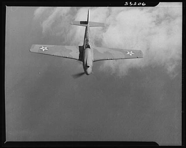 North American P-51 Mustang Fighter which is in service with the British Air Force