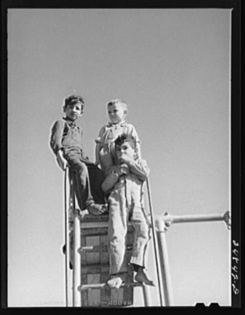 Nursery school children. Robstown camp, Texas