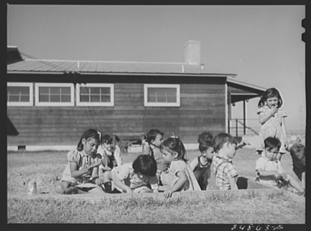 Nursery school playground. Robstown camp, Texas