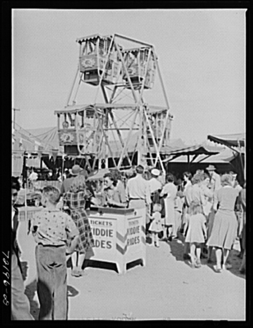 On the midway. Imperial County Fair, California