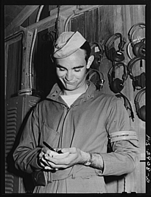 "One of the ""Flying Sergeants."" Lake Muroc, California"