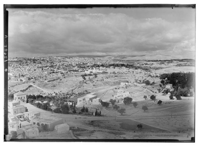 Panorama in two sections from Olivet