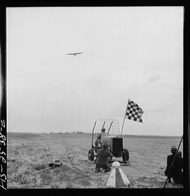 Parris Island, South Carolina. U.S. Marine Corps glider detachment training camp. A glider winch