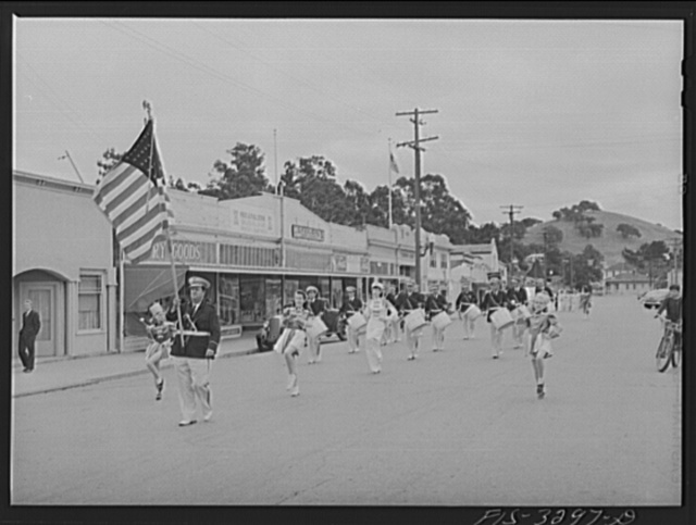 Part of parade of the Festival of the Holy Ghost of the Portuguese-Americans at Novato, California