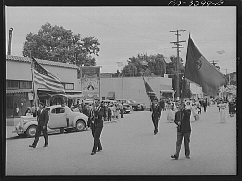 Part of the parade of the Festival of the Holy Ghost of the Portuguese-Americans at Novato, California